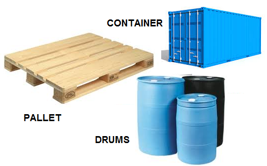 Container, Pallet And Drums